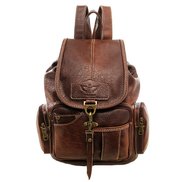 Vintage Womens Leather Backpack Shoulder School Shoulder Satchel HandBag Travel