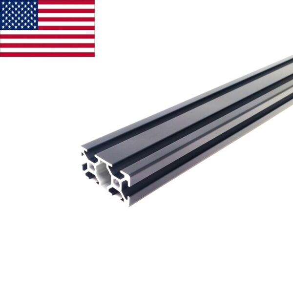 Black 2040 20mmx40mm T Slot Aluminum Extrusion 1200 mm 1.2m CNC 3D Printer $28.95