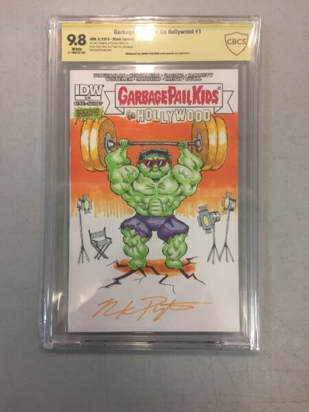 IDW Blank Garbage Pail Kids  #1 Sketch And Signed By Mark Pingitore 9.8 Cbcs