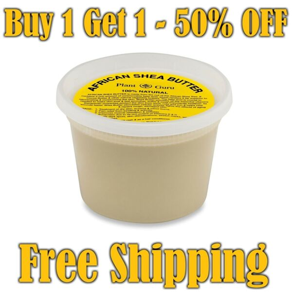 Raw African Shea Butter Pure Organic Unrefined 16 oz  1 lb 100% From Ghana Bulk