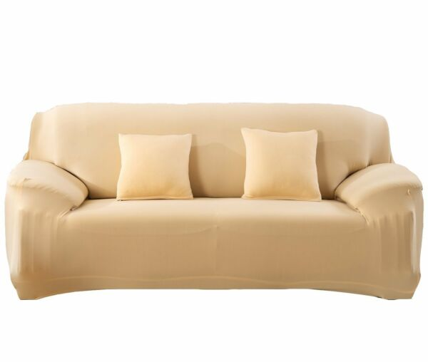 Bluecookies Stretch Arm Elastic Loveseat Slipcover beige gold $19.99