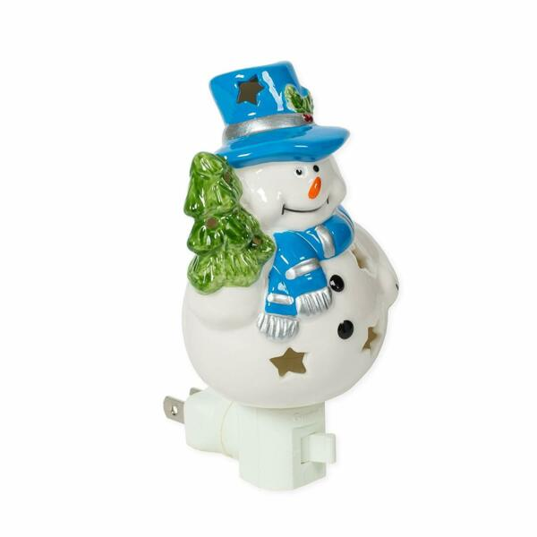Snowman 3x6 Porcelain Electric Wall Swivel Plug In Night Light $18.36