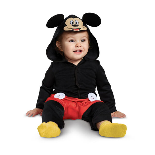 Infant Boys Red Mickey Mouse Baby Costume