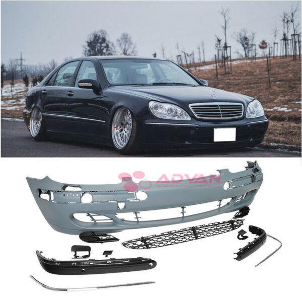 Factory Front Bumper Lower Grille Cover For 03-06 Mercedes Benz S Class w PDC