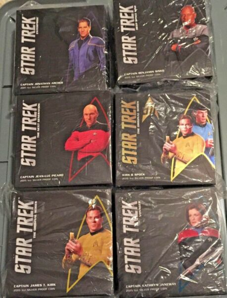 SOLD OUT ITEMS! Star Trek Collector Silver 17 Coin Lot RRP $2570 I take Crypto