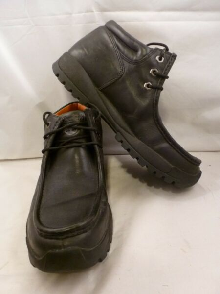 TIMBERLAND LEDGE MOC TOE BLACK VINTAGE BOOTS MEN`S SIZE 11 EU 45 $35.00