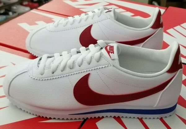 NIKE CLASSIC CORTEZ LEATHER MEN'S WHITE / VARSITY RED-ROYAL 749571 154