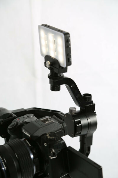 Led mount for zhiyun crane and moza air gimbals