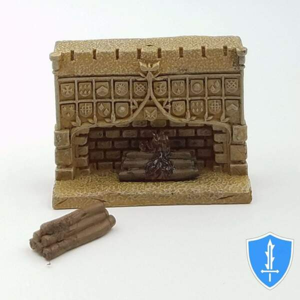 Fireplace with Logs- Maze of Death Dressing #51 Pathfinder Battles D