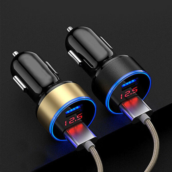 Portable 5V 3.1A LED Dual USB Car Charger 2Port Adapter Cigarette Socket Lighter