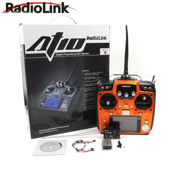 RadioLink AT10 II 2.4Ghz 12CH RC Transmitter & R12DS Receiver PRM-01 fr RC Drone