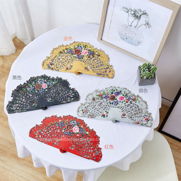 Anita Wood Fans Spanish Style Custom Dance Fans Hand Painted Fans Wedding Gift $21.84