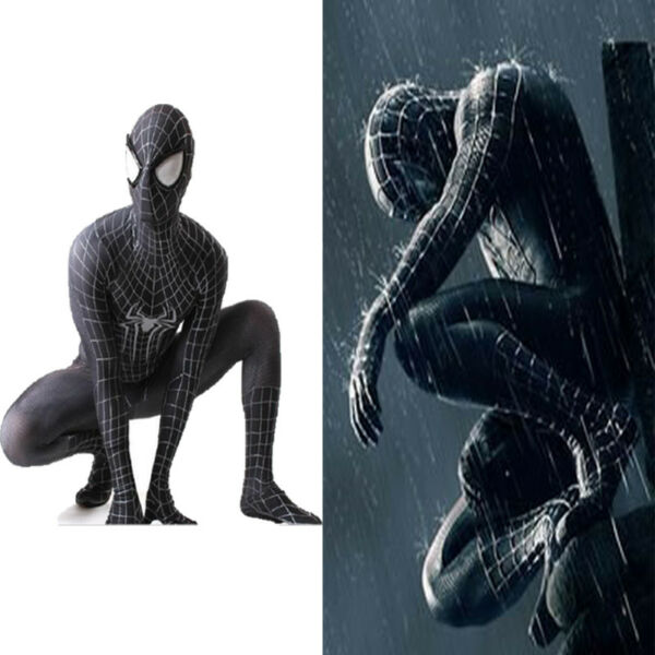 For Venom Black Spiderman Adult Homecoming Cosplay Costume Halloween Bodysuit