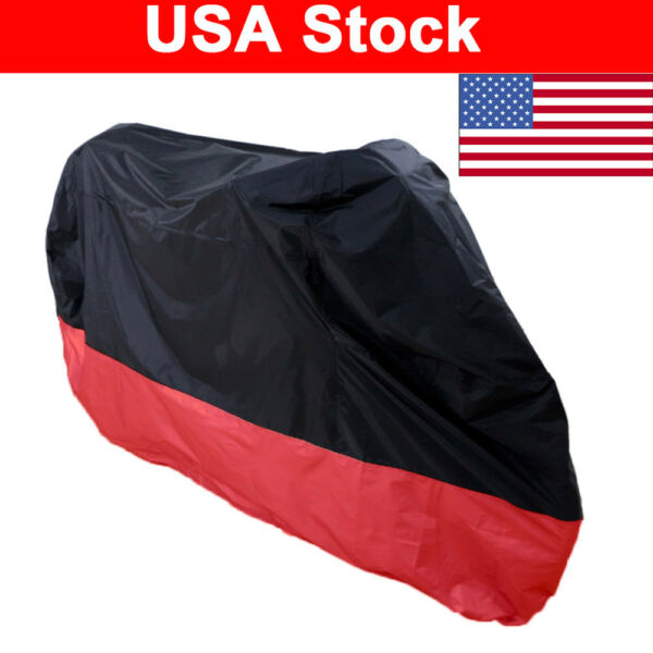 Red Waterproof Sun Dust Rain Outdoor Cover For Yamaha Sports Naked Bike Scooter $23.95