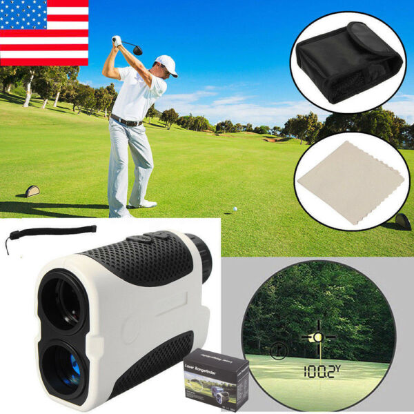 Golf Laser Range Finder Scanner Pinseeking Monocular Handheld Hunting With Case