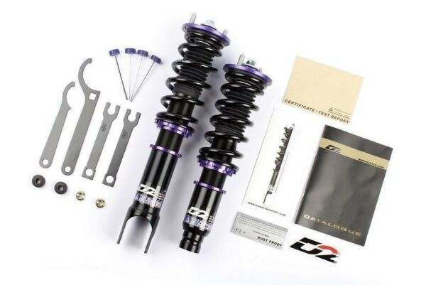 D2 Racing RS Series 36-Step Adjustable Coilover Suspension For 93-97 Ford Probe