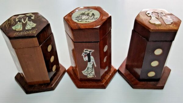 Creative Wooden Asian Decor Toothpick Holder Case Box Craft For Home Restaurant