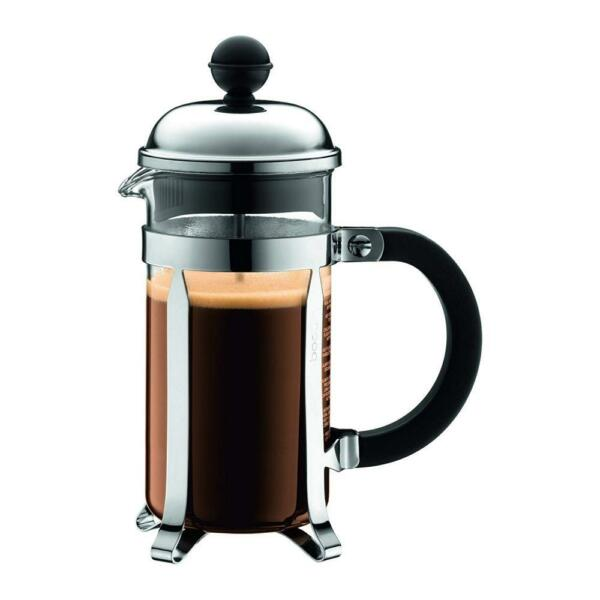 Bodum Chambord French Press Coffee Maker Stainless Steel Glass 12 Ounce...
