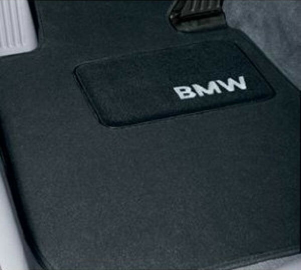 BMW Black Carpet Floor Mats w/Pad 5 Series 2011-2013 528i 535i 550i 82110440464