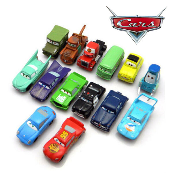 Cars 14 PCS Action Figure Lightning McQueen Mater Sally PVC Dolls Kid Toys Gifts