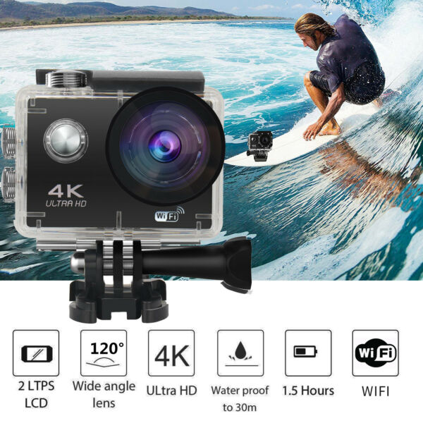 SJ60 Waterproof 4K Wifi HD 1080P Ultra Sports Action Camera DVR Cam Camcorder US