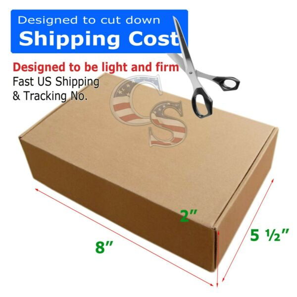 100 8x5½x2 Shipping Packing Mailing Moving Tapeless Boxes Corrugated Carton US