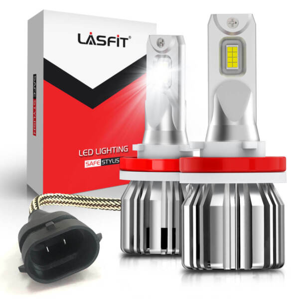 LASFIT H11 LED Headlight Kit Low Beam Bulb Super Bright 6000K 45Days Free Return