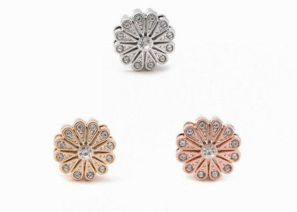 Christmas Flower Pave Keep Slide Charms Bracelet 10mm $3.99