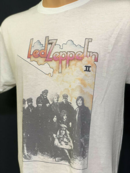 Led Zeppelin II T Shirt New Vintage Style Classic Rock Band Album Cover