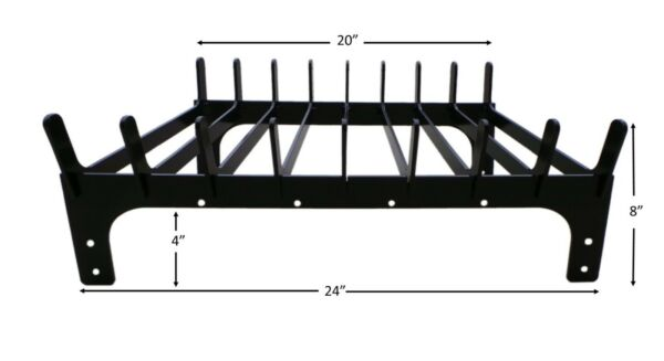 Fireplace log cradle grate 24