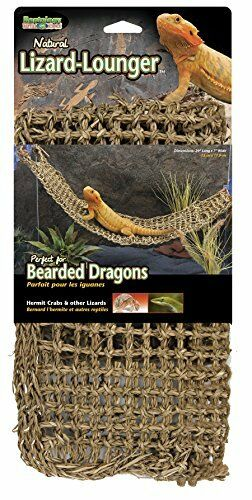 Reptile Lizard Lounger Natural For Anoles Bearded Dragons X Large Hammock NEW $16.31