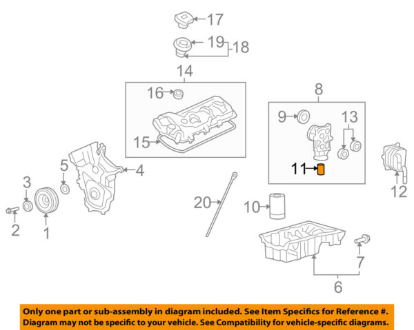 MAZDA OEM 07-15 CX-9 Engine Parts-Oil Filter Joint CY0110319