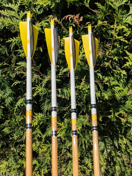 Premium Wood Arrows Spined and Weight Matched. Dozen Packs $115.00