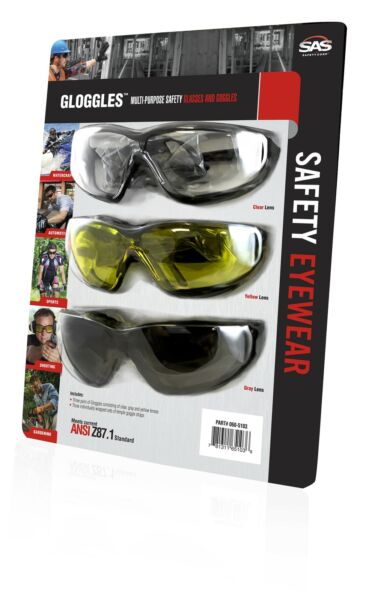 S A S  SAFETY CORP 3PK GOGGLES