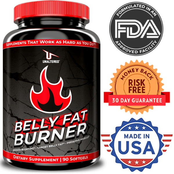 CLA Belly Fat Burner Pills - MAX STRENGTH Stomach Weight Loss - Lose