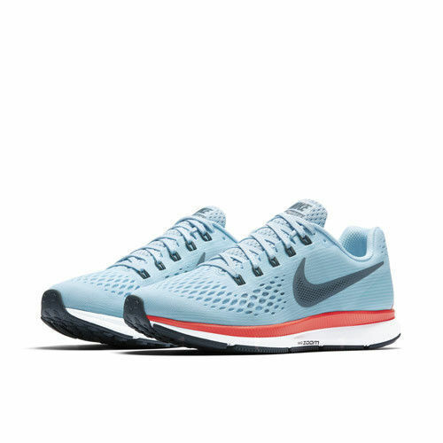 NEW Nike Air Zoom Pegasus 34 Mens Running Shoes Ice Blue Crimson Red White