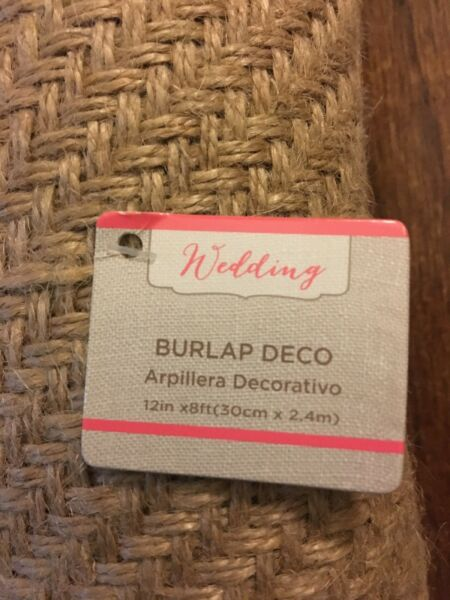 Wedding Burlap Decorations 12in X 8ft Party Decor Table Runner