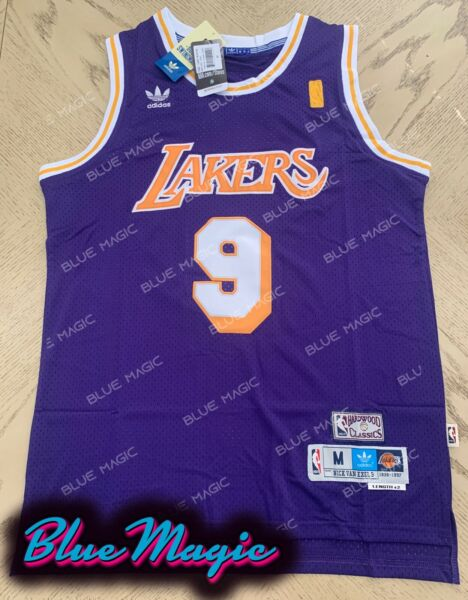 New Nick Van Exel Throwback Swingman Jersey #9 Los Angeles Lakers Mens S-XXL