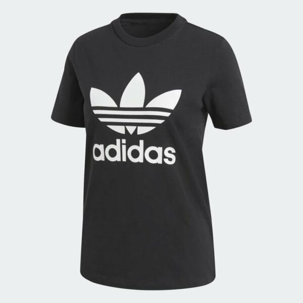 Women's Adidas Originals Trefoil T-Shirt BlackWhite [z] CV9888