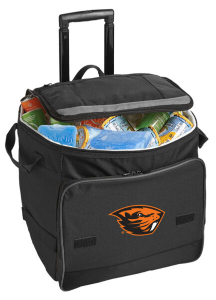 Oregon State Rolling Cooler Bag with Wheels OSU Beavers-GREAT FOR THE GAME!