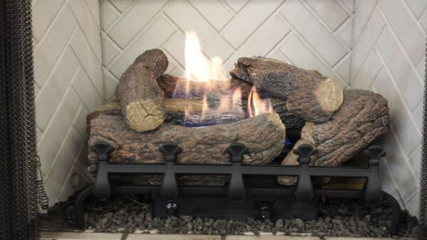 Vent-Free Logs Monessen Mountain Cedar With Remote 24 inch Propane Gas
