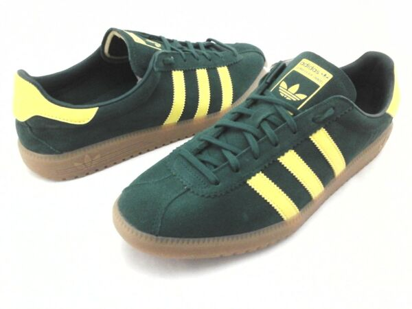 Adidas BERMUDA Shoes Green Suede Yellow Gum Sole Retro B41472 Men's US 11/45 1/3