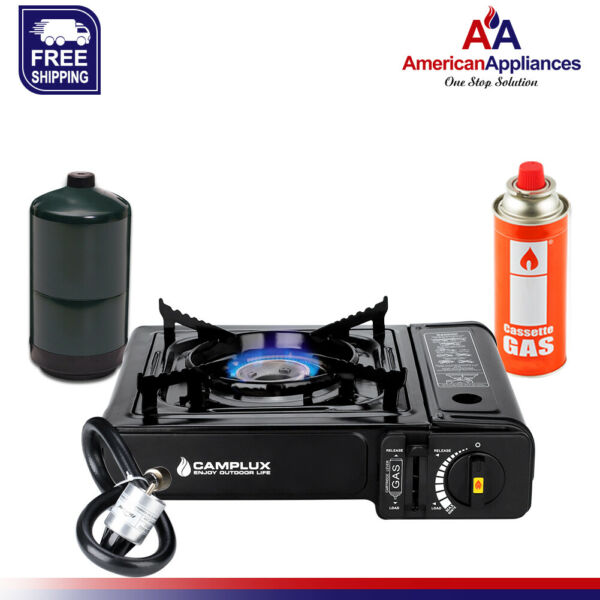 Camplux New Dual Fuel Propane & Butane Portable Outdoor Camping Gas Stove