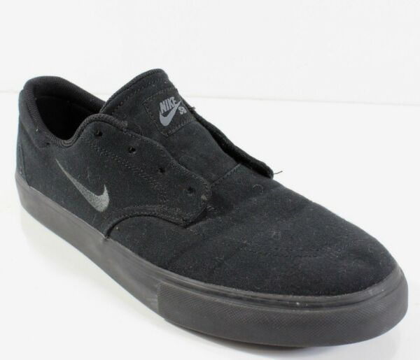 Nike Men's SB Clutch Black Black Canvas Sneakers Shoes 729825-005 Sz 10.5 M NWOB