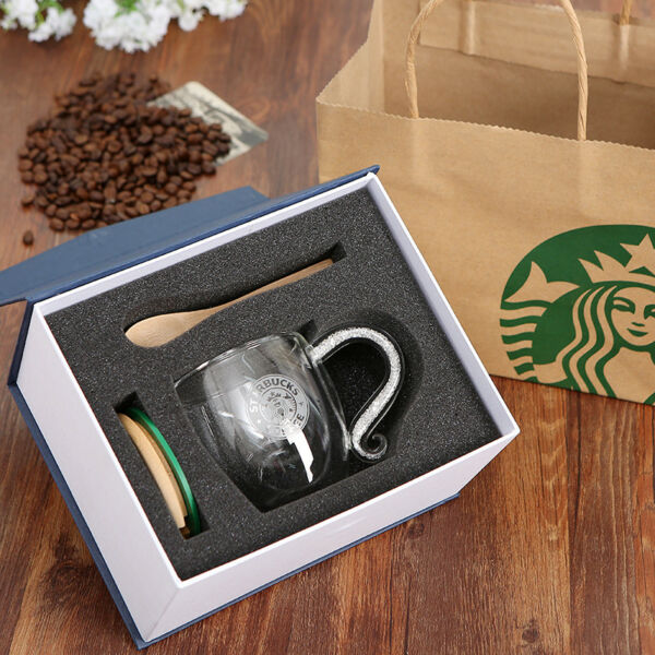 Starbucks Collectors' Edition Coffee Cup Lid and Spoon Double Heat-Resistant