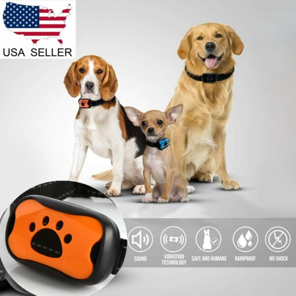 US Small Medium Large Dog Anti Bark Collar Puppy Stop Barking Sound