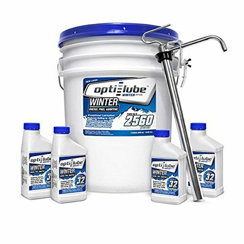 Opti-Lube Winter Formula Diesel Fuel Additive: 5 Gal Pail with Heavy Duty Pump