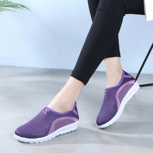 Unisex Women Men Athletic Breathable Sneaker Slip On Sports Casual Low Top Shoes