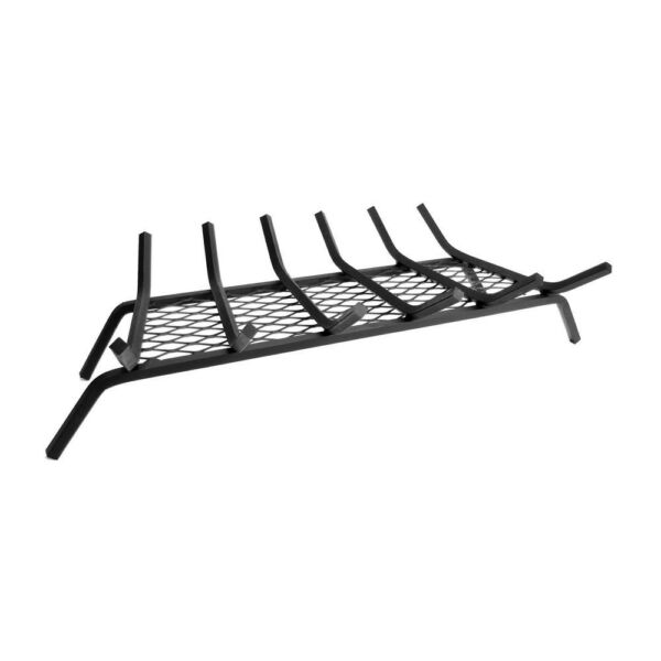 12 in. 30 in. 6-Bar Steel Fireplace Grate with Ember Retainer