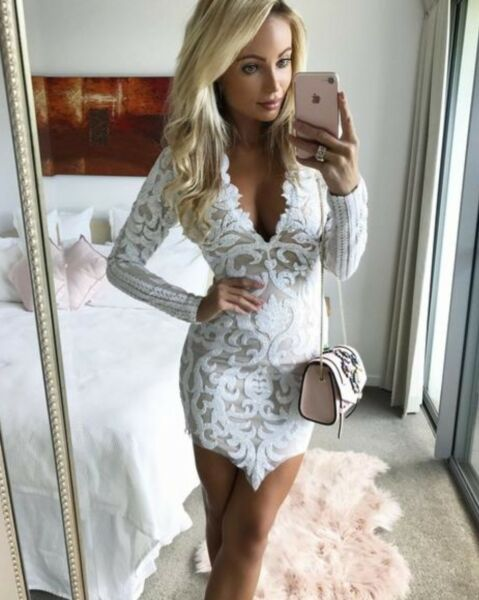 Sexy white dress for nighnight outdate night